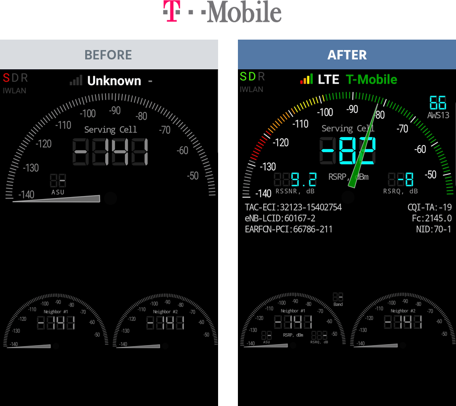 tmobile before and after